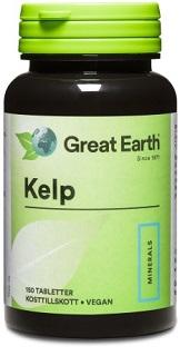 Kelp, en naturlig källa till mineralet
