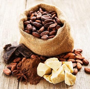 Kakaosmör tillverkas från kakaobönor