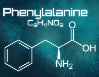 Kemisk strukturformel för Fenylalanin